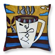 Cafe Resto Throw Pillow by Oscar Ortiz