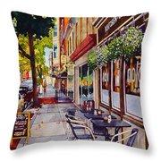 Cafe Nola Throw Pillow