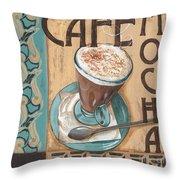 Cafe Nouveau 1 Throw Pillow by Debbie DeWitt