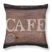 Cafe Sign Throw Pillow