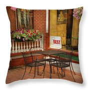 Cafe - The Best Ice Cream In Lancaster Throw Pillow