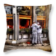 Cafe - The Painters Throw Pillow by Mike Savad