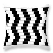 Cafe Wall Illusion Throw Pillow