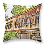 Caffee Grocery Throw Pillow