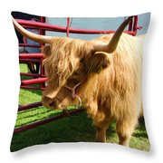 Caged Coo Throw Pillow