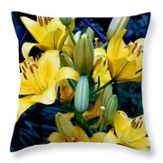 Caged Lilies Throw Pillow