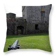 Cahir Castle Yard Throw Pillow