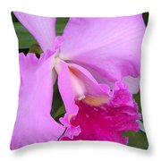 Cahleya Orchid Throw Pillow
