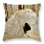 Cahuilla Indian Dwelling In Andreas Canyon In Indian Canyons-ca Throw Pillow