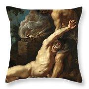 Cain Slaying Abel Throw Pillow