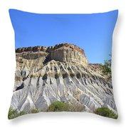 Caineville Mesa Utah Throw Pillow