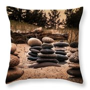 Cairn Whitefish Point Michigan Throw Pillow