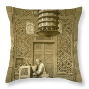 Cairo Funerary Or Sepuchral Mosque Throw Pillow by Emile Prisse d'Avennes