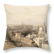 Cairo Looking West, From Egypt Throw Pillow