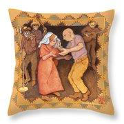 Cajun Stomp Throw Pillow