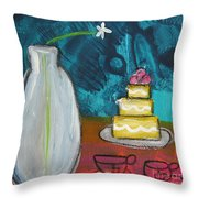 Cake And Tea For Two Throw Pillow