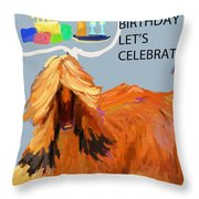 Cake And Wine Throw Pillow