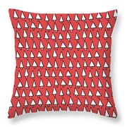 Cal Tree Red Throw Pillow