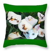Cala In Callas Throw Pillow
