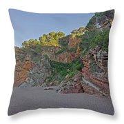 Cala Moreta In Costa Brava, Girona Throw Pillow