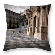 Calahorra Cathedral And Palace Throw Pillow