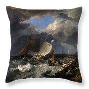 Calais Pier Throw Pillow