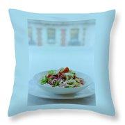 Calamari Salad Throw Pillow