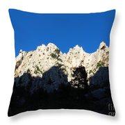 Calanque D'en Vau In Cassis France Throw Pillow