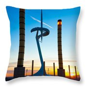 Calatrava Tower - Barcelona Throw Pillow