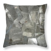 Calcite Crystals Throw Pillow