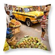 Calcutta - India Throw Pillow