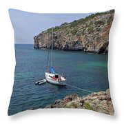 Cales Coves Throw Pillow