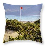 Caleta De Famara Beach Lanzarote Throw Pillow