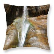 Calf Creek Falls 3 Throw Pillow