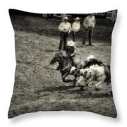 Calgary Stampede Black And White Throw Pillow