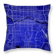 Calgary Street Map - Calgary Canada Road Map Art On Colored Back Throw Pillow