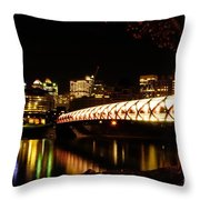 Calgary's Peace Bridge Throw Pillow