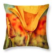 California Poppy Throw Pillow