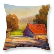 California Barn Throw Pillow