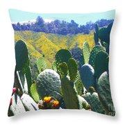 California Big Sur Flowers Throw Pillow