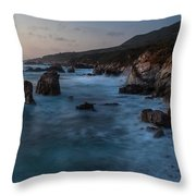 California Coast Dusk Throw Pillow