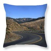 California Curve Throw Pillow