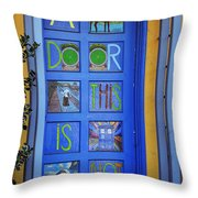 California Door Collection 3 Throw Pillow