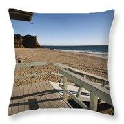 California Lifeguard Shack At Zuma Beach Throw Pillow