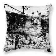 California: Mining, 1850s Throw Pillow