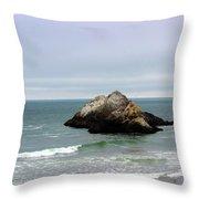 California Ocean Beach Throw Pillow