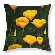 California Poppy Throw Pillow by Veikko Suikkanen