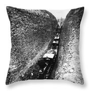 California Railroad, C1868 Throw Pillow