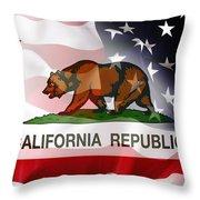 California Republic Within The United States Throw Pillow