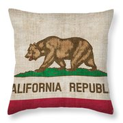 California State Flag Throw Pillow by Pixel Chimp